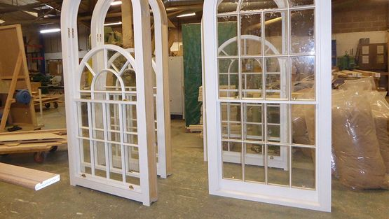 An example of feature windows being made in our workshop